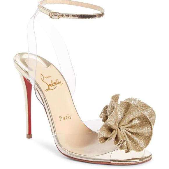 06157d8ef9 Christian Louboutin Shoes | Fossiliza Clear Ankle Sandal | Poshmark